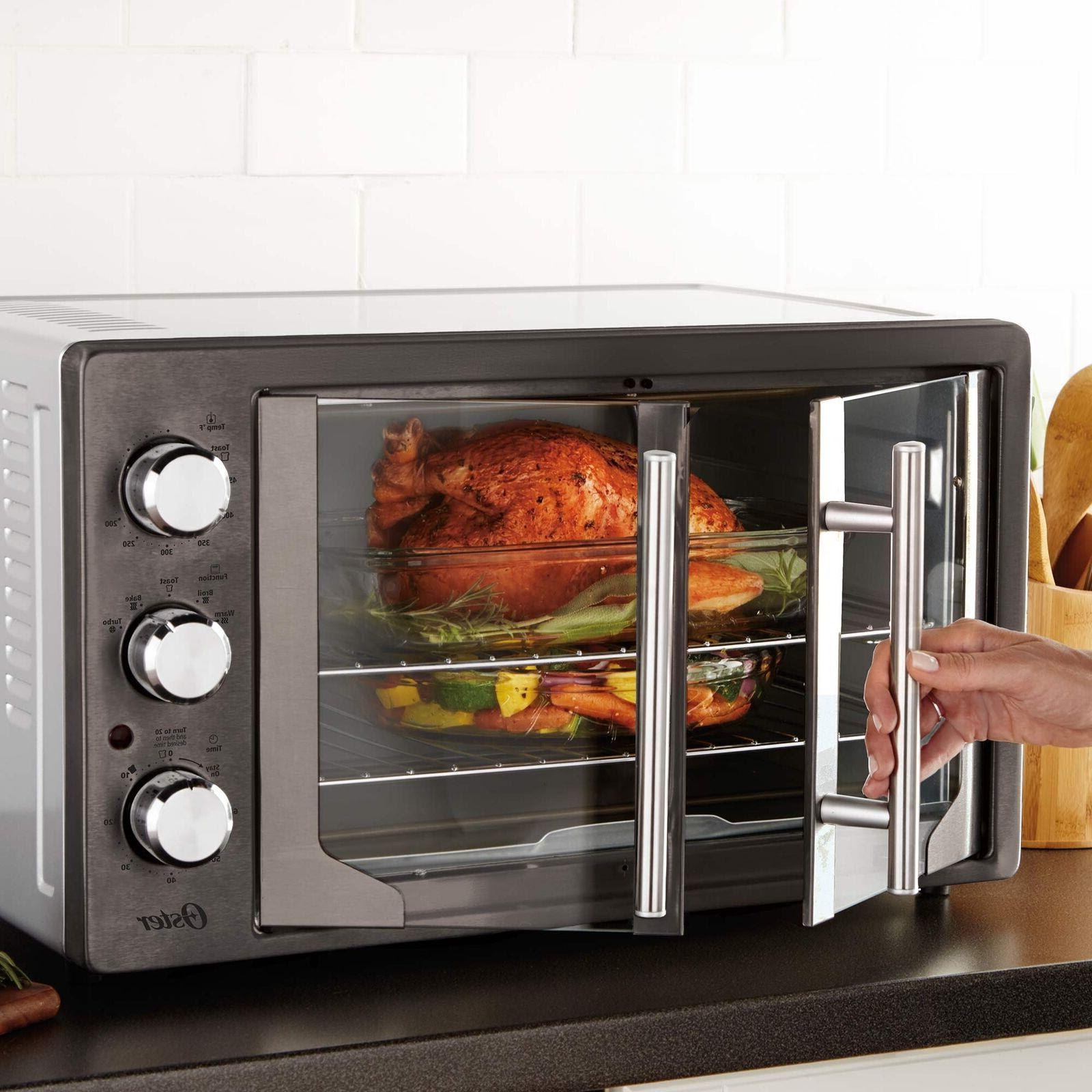 Oster Digital French Door Oven with Convection, Metallic