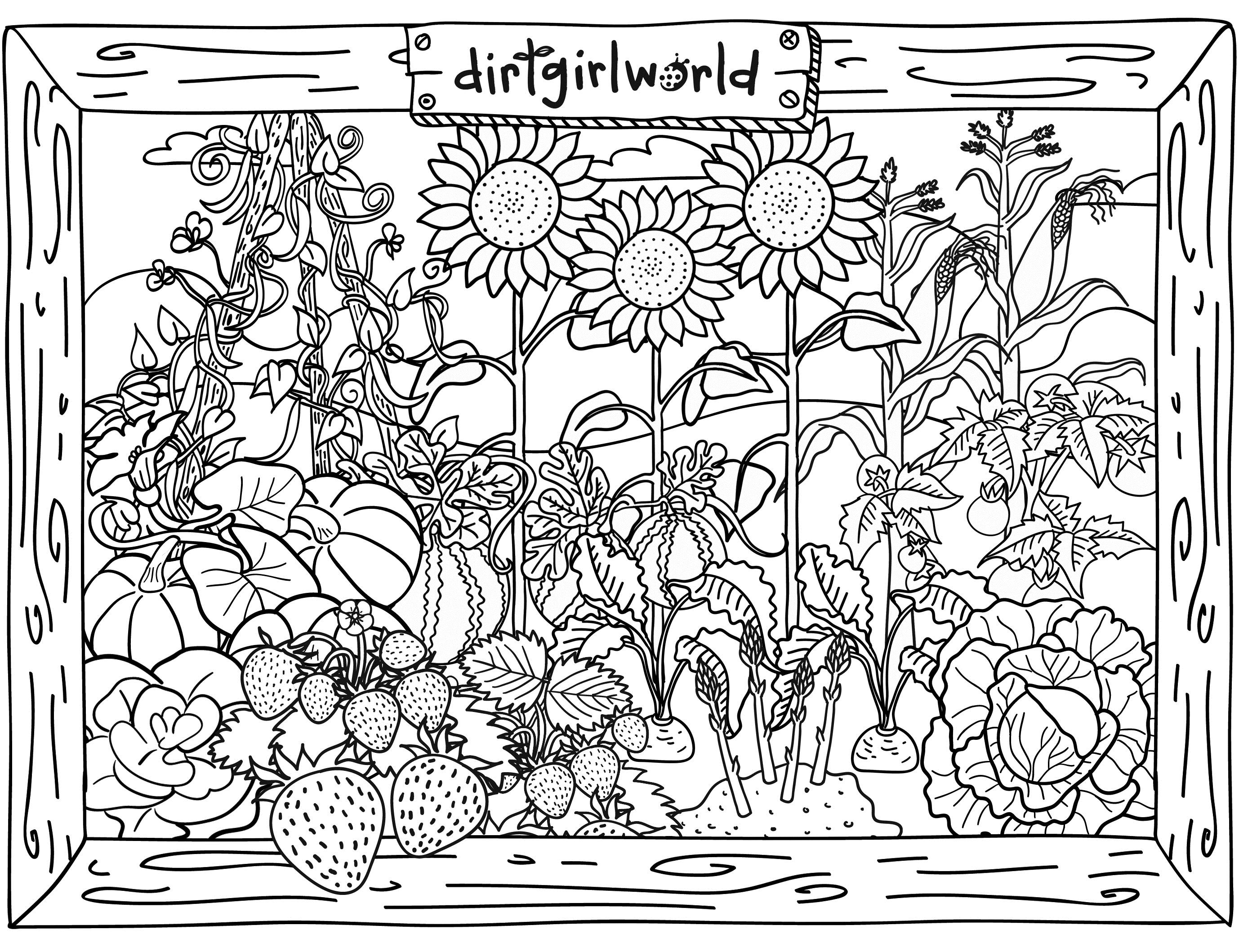 Simple Garden Drawing at GetDrawings | Free download