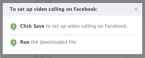 To set up video calling on Facebook