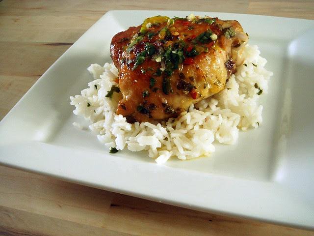 Mojo Chicken with Cilantro Rice