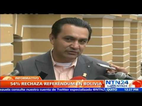VENEZUELA: AL MENOS 54% DE LOS BOLIVIANOS RECHAZA REFERENDO PARA QUE MORALES SE REPOSTULE