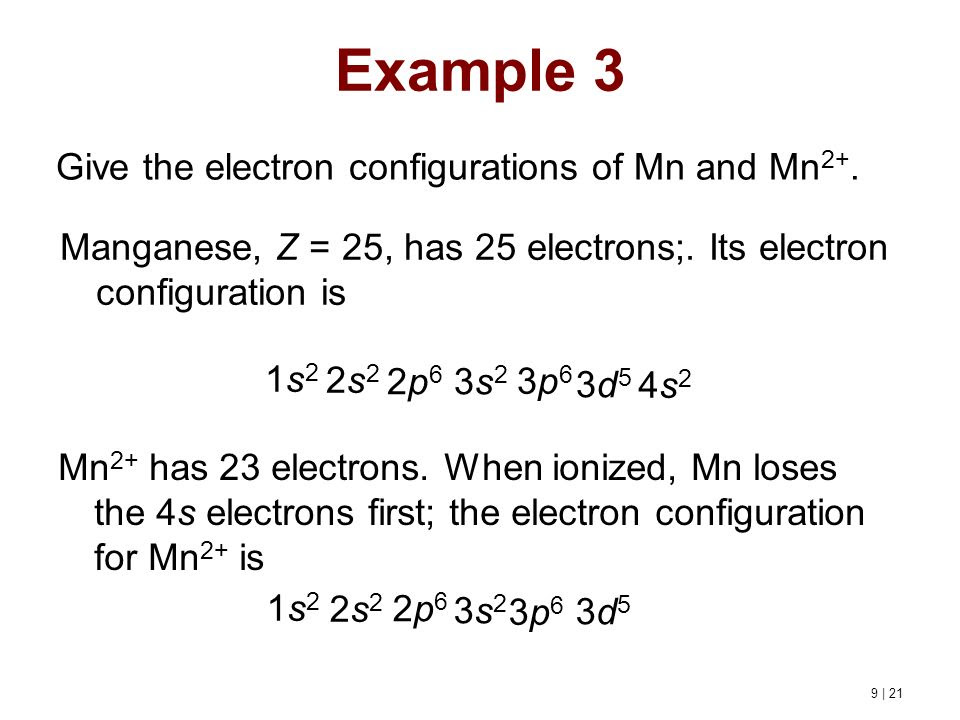 51 [TUTORIAL] THE D ELECTRON CONFIGURATION OF CR2+ MN2 ...