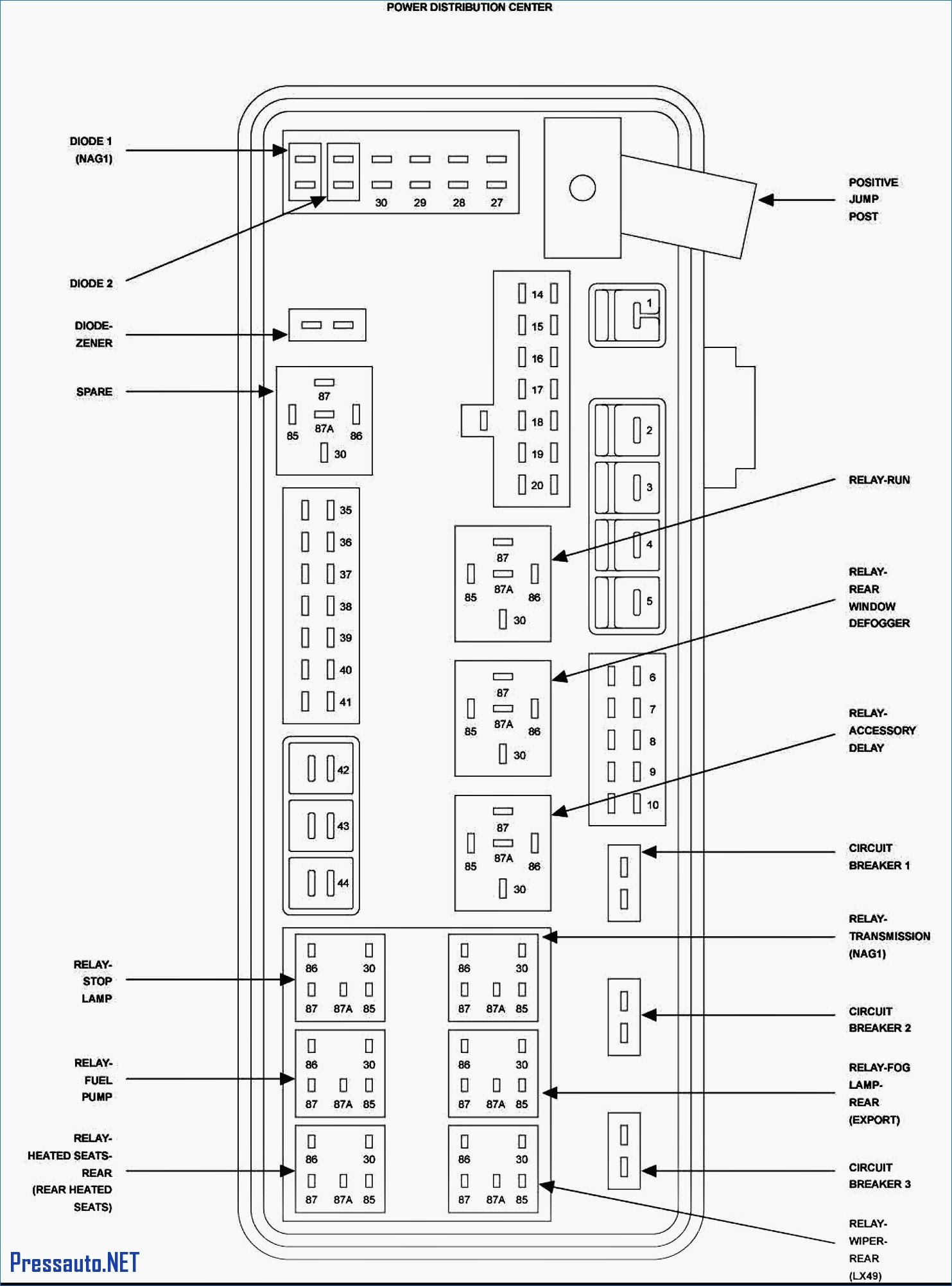 99 Chrysler Lh Fuse Box Diagram