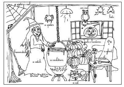 Coloriage Halloween Anglais La Classe De Myli Breizh