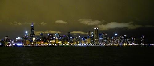 Chicago city night lights , 11.15.2009 (2)