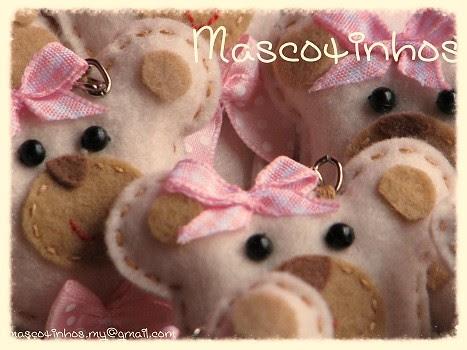 Ursinhas! by Mascotinhos em Feltro