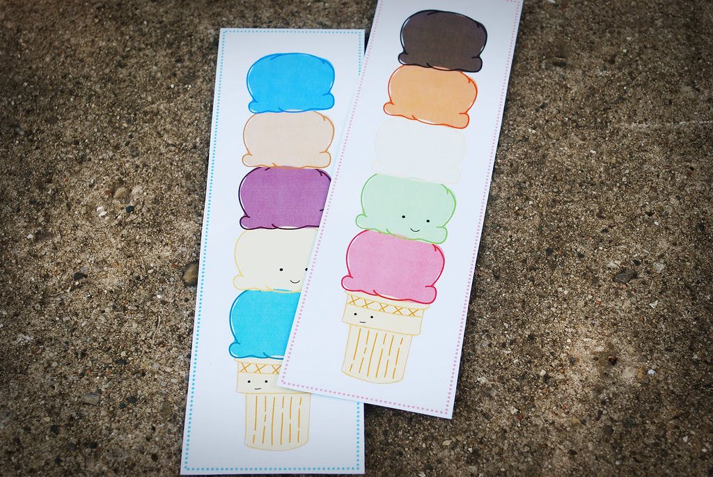 Ice Cream Printable Bookmark