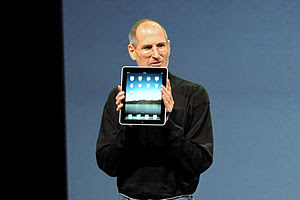 Steve Jobs while introducing the iPad in San F...