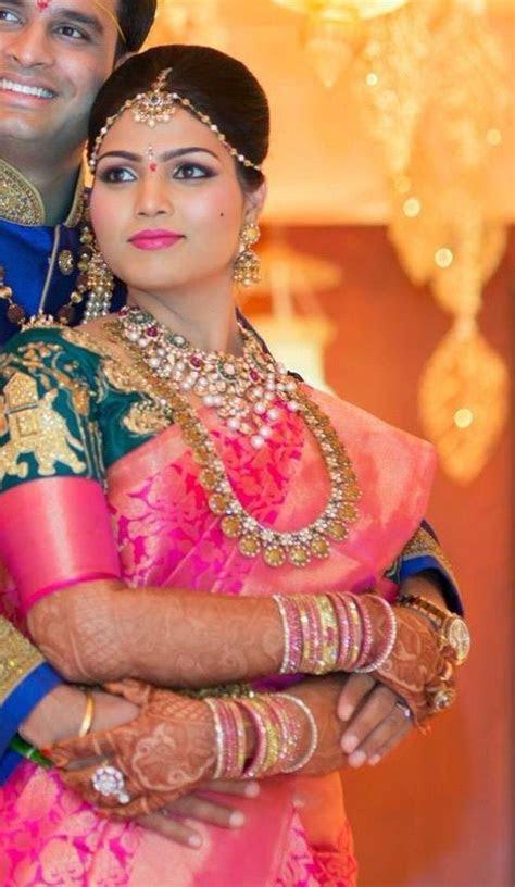 Bridal saree blouse embroidery Telugu bride Tamil bride