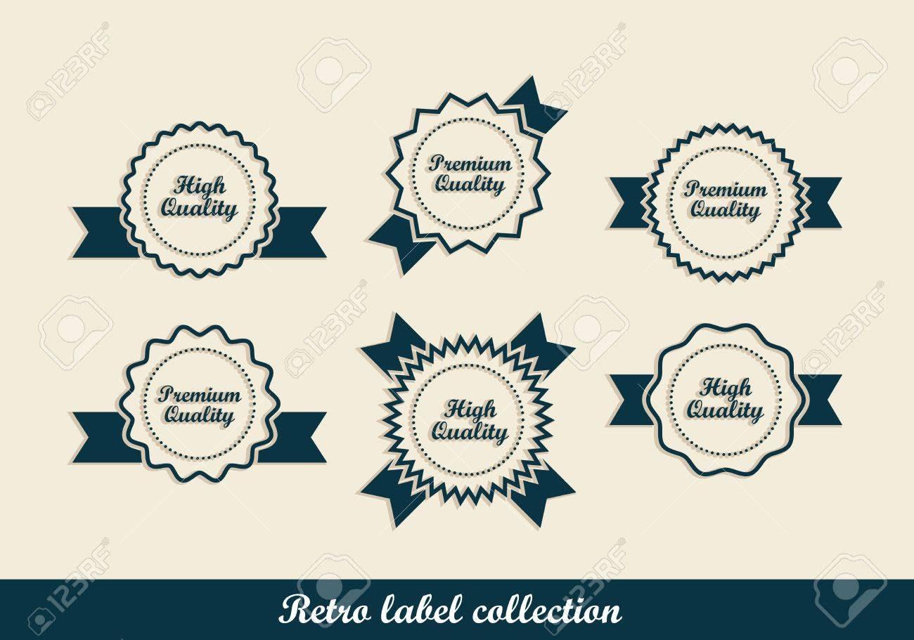 Retro Vintage Labels In Editable Royalty Free Cliparts, Vectors ...
