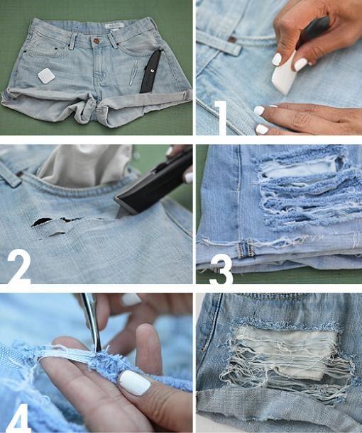 Moda Juvenil Shorts Costumizados Tumblr