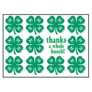 Printable 4 H Logo | Clover Emblem Thank You Cards/Box 8 | Alaska ...