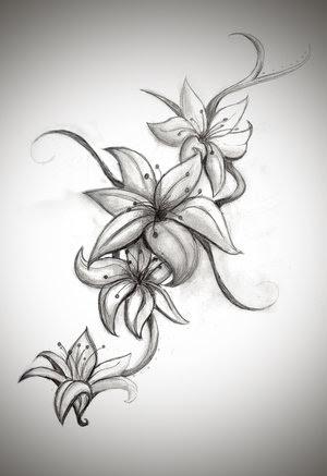 Cool Lily Flower Tattoo Drawing Tattoomagz
