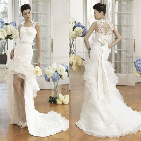 Chic Short Wedding Dresses with Long Trains ? Sang Maestro