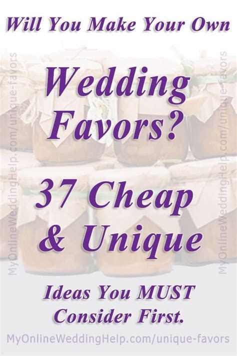 37 Cheap and Unique Wedding Favor Ideas   My Online