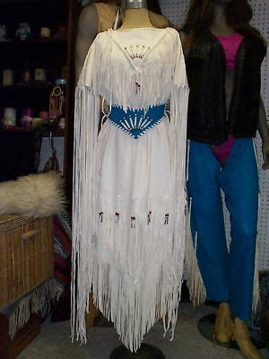 Native design wedding dress deer elk hide custom made