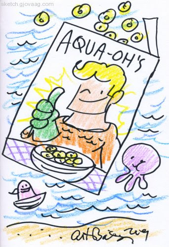 Art Baltazar's Aquaman Sketch