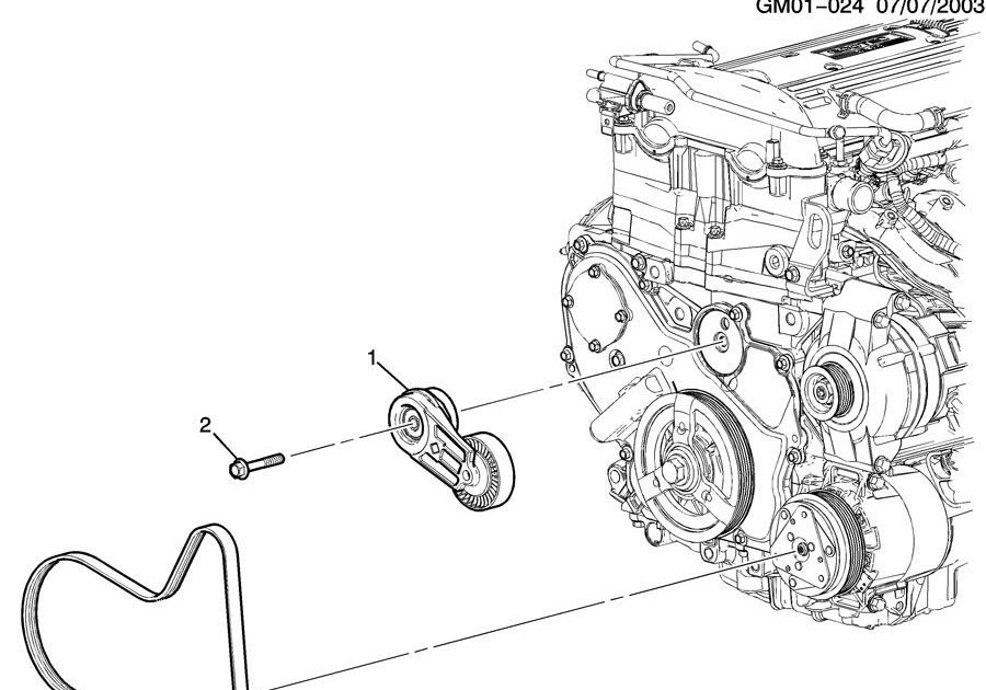 33 2002 Chevy Cavalier Serpentine Belt Diagram - Wiring ...