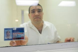 Juan Leonardo Quintero, an undocumented immigrant pictured here in 2015 in a visitation booth at the maximum-security Allred Unit near Wichita Falls, is serving a life sentence for the 2006 murder of Houston Police Officer Rodney Johnson.