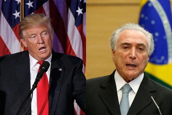 Resultado de imagem para Trump e Temer