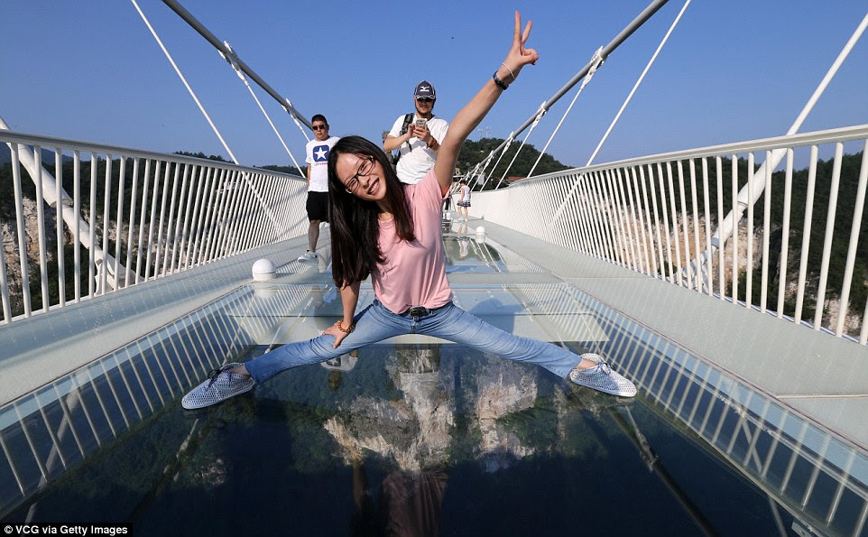 Having fun? Tourists will have to book their tickets a day in advance, at a cost of 138 yuan (£15.94)