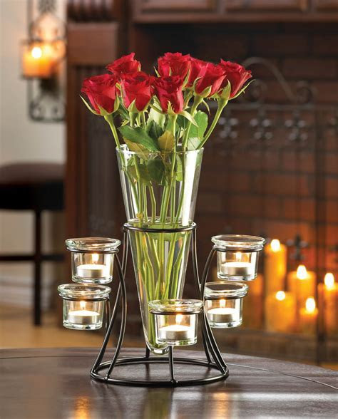 Circular Candle Stand Centerpiece Vase Wholesale at