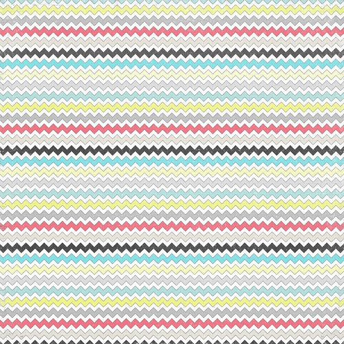 7 distressed multicolour chevron paper