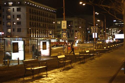 Night street of Bratislava