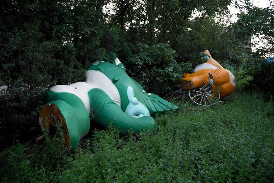 Olympic Mascots Lie Unwanted, Beijing, 2008 Summer Olympics