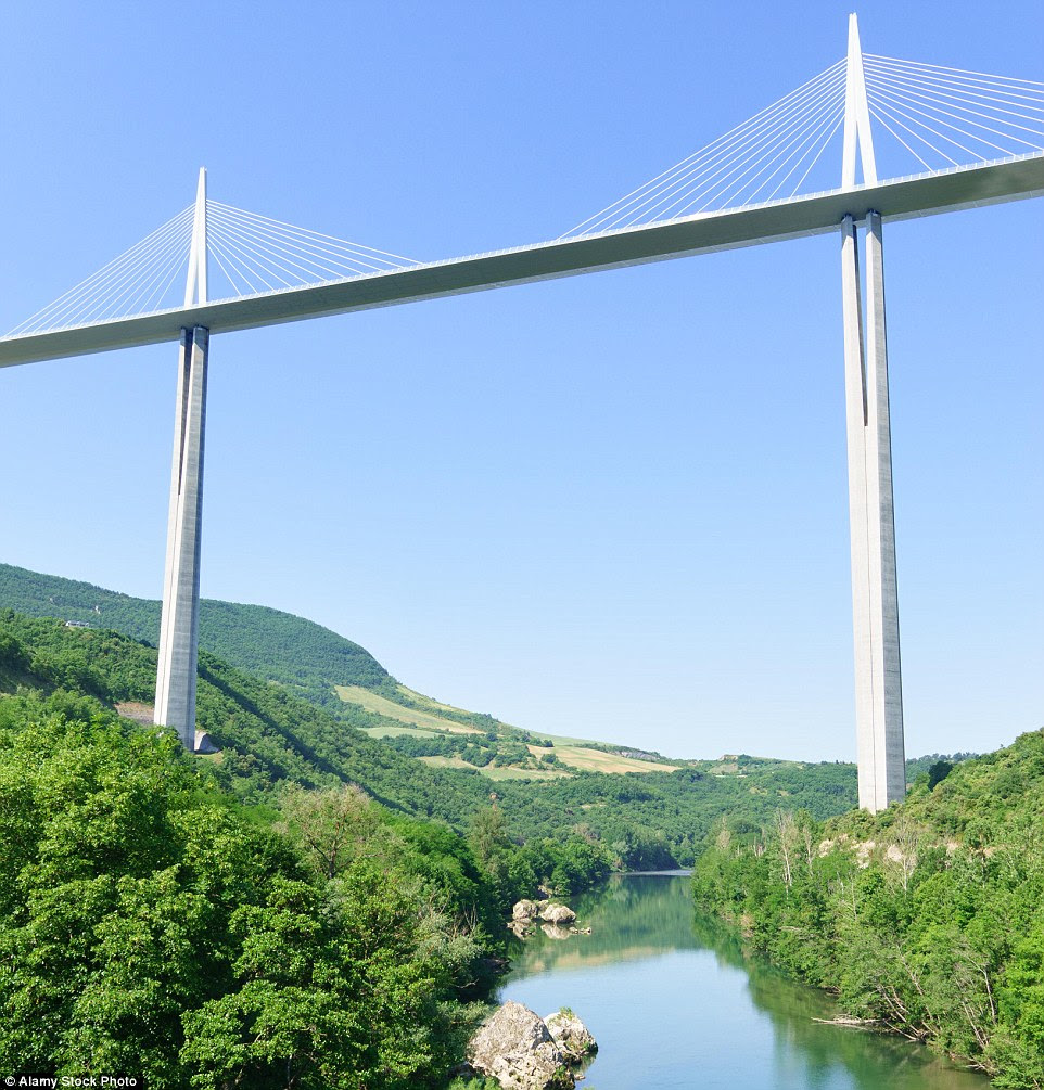 While it may look like one of the more secure bridges in the collection, the Millau Viaduct in France is so high it is often above the clouds. In fact at its highest point, the bridge is taller than
