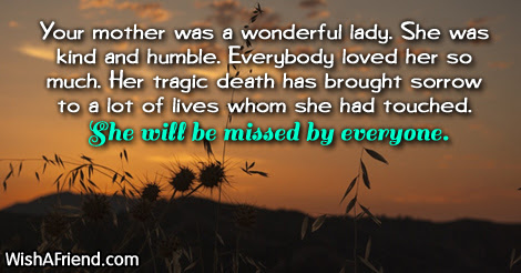Sympathy Messages For Loss Of Mother