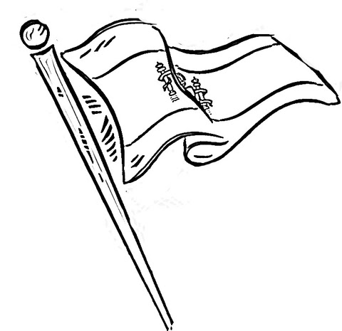 flag of spain coloring page