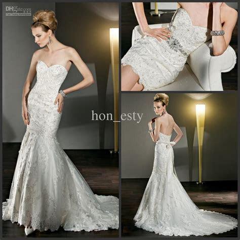 Autumn Cute Wedding Gowns Lace Strapless Detachable Skirt