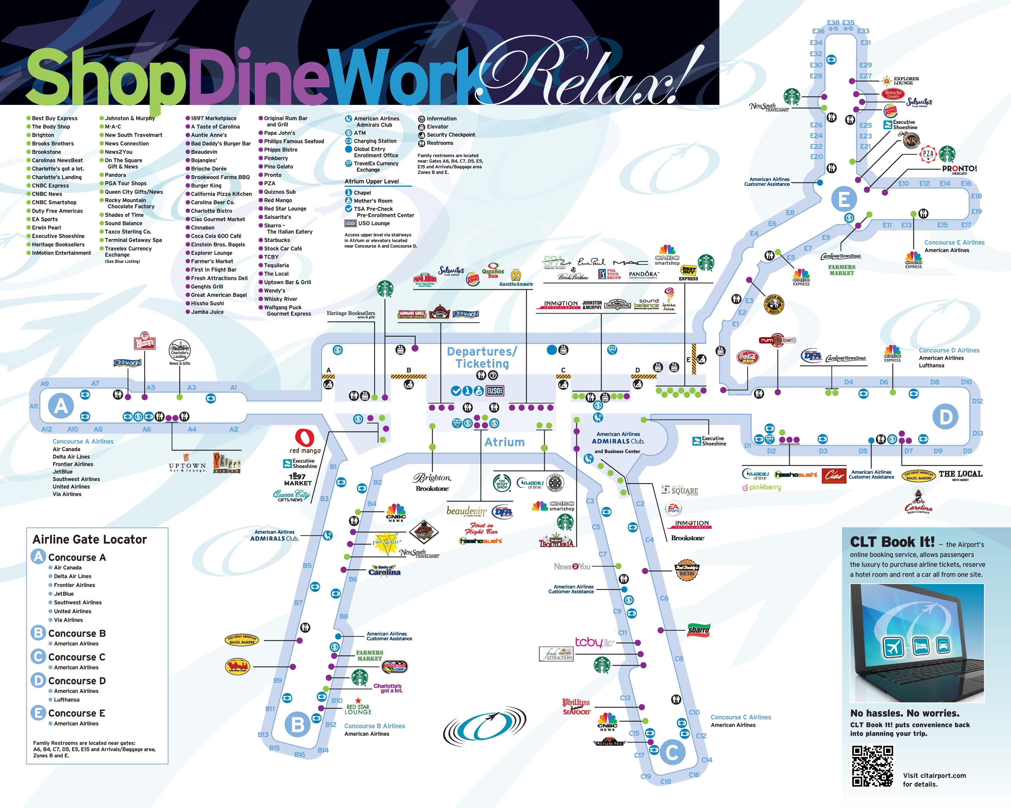 Clt Airport Map Kitchen 2018
