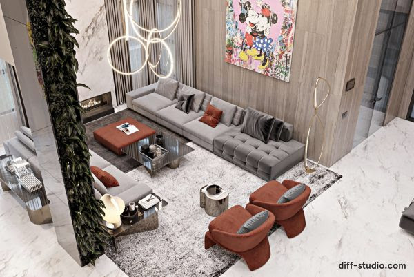Luxury Modern Home Interior With A Sense Of Fun Free Autocad Blocks Drawings Download Center