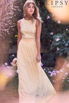 Lipsy maxi glitter dress usa rosegal