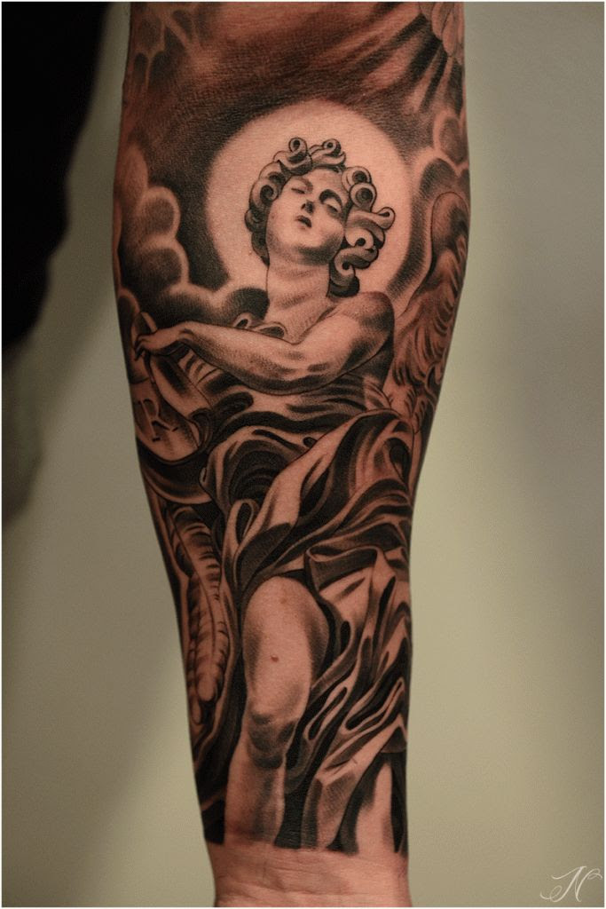 21 Inspiring Angel Tattoo Designs For Men Patterns Hub