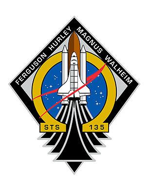 Insígnia da missão com a letra grega ômega simboliza o fim do programa do ônibus espacial (Foto: Nasa/Divulgação)