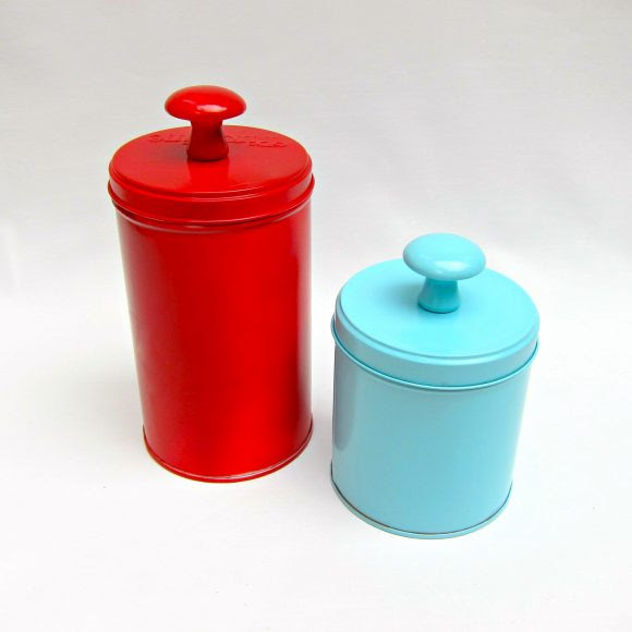 Recycled Tins for Storage