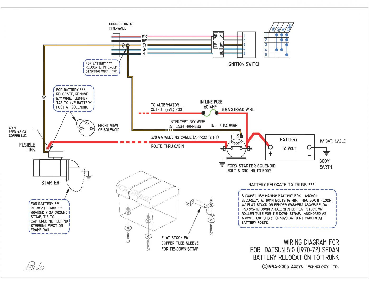 Battery In Trunk Wiring Diagram