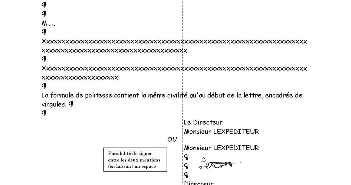 exemples de mod u00e8les  norme afnor lettre