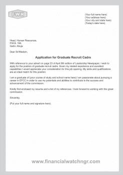 Cover Letter Sample For Job Application In Nigeria 100 Cover Letter Samples