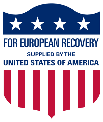Logo used on aid delivered to European countri...