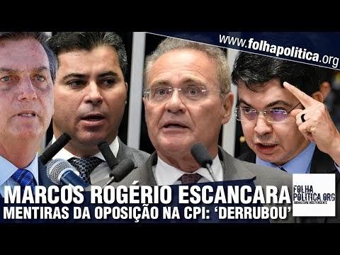 Marcos Rogério escancara mentiras de senadores contra Bolsonaro na CPI e chuta o balde: 'derrubou a narrativa'