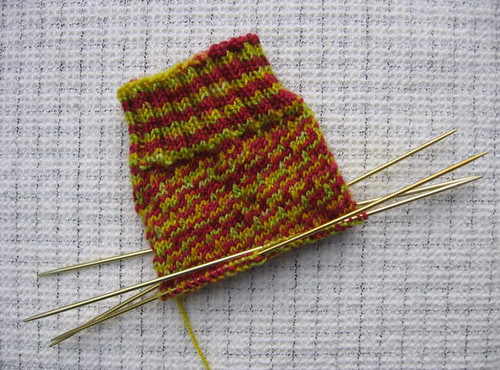 Spiral Sox in progress
