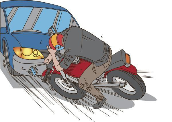 Resultado de imagen para DIBUJO CHOQUE ENTRE AUTO Y MOTO