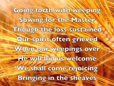 Bringing In The Sheaves Lyrics Youtube