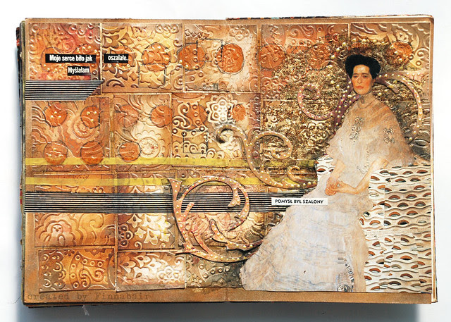 Inspired by Klimt - journal page