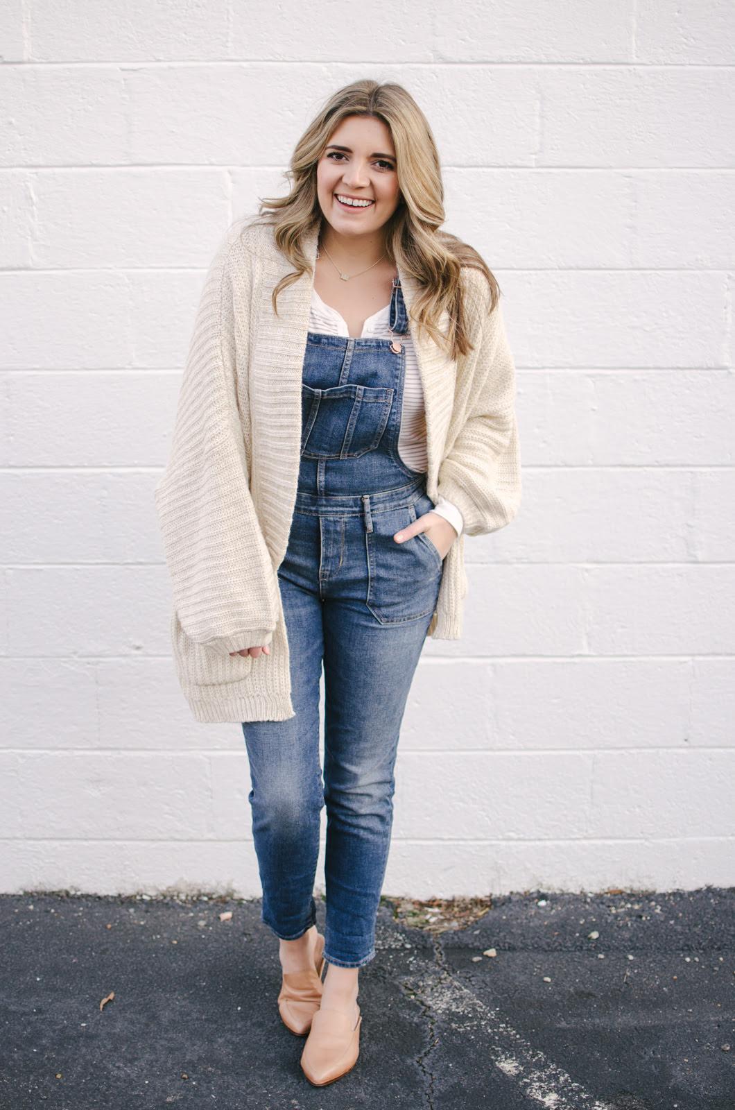 winter overalls outfit lauren m