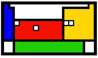 """Versión de la Tabla Periódica de los elementos que aparece en el sello """"Tabla Periódica de elementos de Mendeléiev"""" que emitió el 2 de febrero de 2007 el Servicio de Correos español para conmemorar el centenario de la muerte del químico ruso. En ella destacan cuatro huecos correspondientes a los cuatro elementos que aún no se habían descubierto cuando Mendeléiev propuso su Tabla Periódica (1869) y cuya existencia y propiedades predijo con gran precisión."""